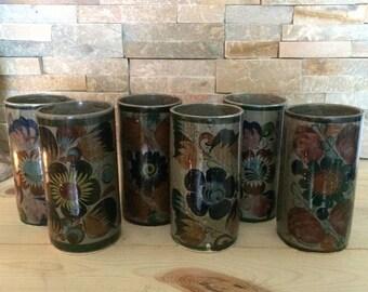 Mexican Tonala Talavera Pottery - Cups Glasses Mugs - Handpainted Folk Art from Mexico