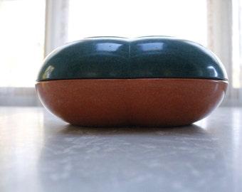 Vintage Melmac Color Flyte By Branchell USA Vtg Orange & Vtg Green Serving Bowl Dish Set