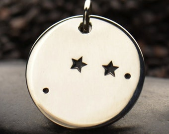 Aries - Sterling Silver Zodiac Constellation Disc Charm