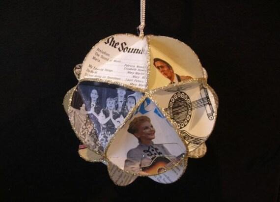 The Sound Of Music Album Cover Ornament Made Of Repurposed