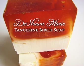 SOAP - 3lb Tangerine Birch Vegan Handmade Soap Loaf, Wholesale Soap Loaves