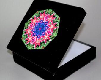 Lily Music Box Trinket Box Boho Chic Mandala New Age Sacred Geometry Hippie Kaleidoscope Innocent Flirtation