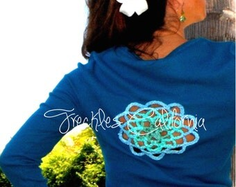 Coachella 2016 Clothing Long Sleeve Shirt Large Flower on Back Very Unique by Freckles California