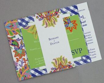 Russian Folk Art Wedding Invitation,Russian Wedding Invitations,Folk art Floral Invites,Garden Wedding Invite,Cottage Chic wedding Invites