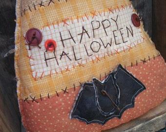 Primitive Halloween Candy Corn Greeter Cupboard Tuck