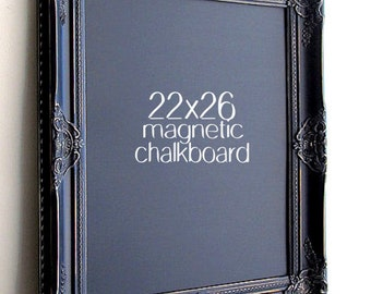 WEDDING CHALKBOARD Wedding Chalkboard Sign Black Distressed Framed Chalk Board MAGNETIC Blackboard Gothic Wedding Decor Rustic Wedding Gold