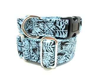 "Houndstown 1.5"" Mod Fern Martingale or Buckle Collar, Size Small through X-Large"