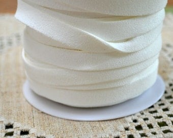 25 Yard Thick 10mm Faux Suede Cord Lace White 10x1.5mm Vegan Leather Cording