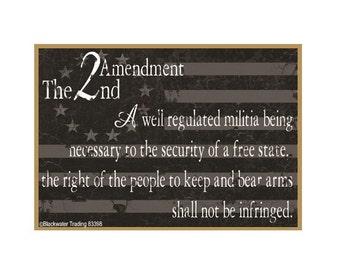 "American Flag 2nd Amendment Gun Safe Fridge Refrigerator Magnet 3.5""X2.5"""