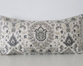 Telesto Blend Dove ivory gray medallion decorative pillow cover