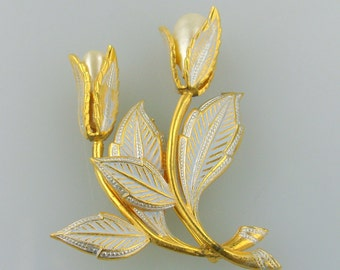 Vintage Tulip Brooch