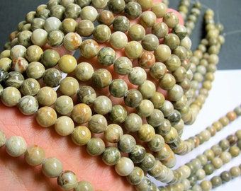 Fossilized Coral  - 8mm beads - full strand - 48 pcs - A Quality - RFG764