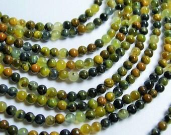 Golden Pietersite - 4mm round bead - A quality - 98 beads - full strand - RFG778