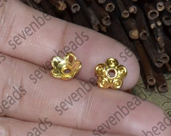 30pcs of 10mm Gold Tone Flower bead cap findings,earring findings,findings beads,bracelet findings,necklace findings