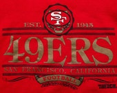 San Francisco 49ers Sweatshirt, NFL Apparel Crewneck Shirt, Vintage 90s