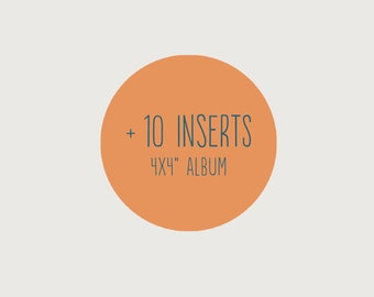 """Add another 10 inserts to your 4x4"""" album"""