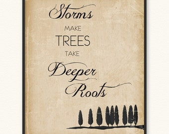 Storms Make Trees Take Deeper Roots • Art Print
