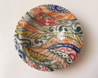Small Stoneware Dish - Thank you - Margi Cloete