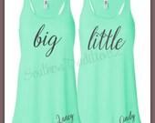 big little sorority racer back tank top (1) - sorority shirts - racer back tank - monogram sorority tank top
