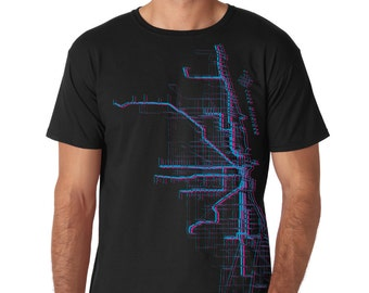 Chicago Metro Map Tee - Men's