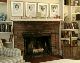 Rare Antique Wicker Fireplace Log Holder