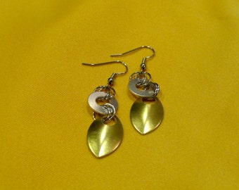 Goddess silver and gold stainless steel earrings (Style #300)