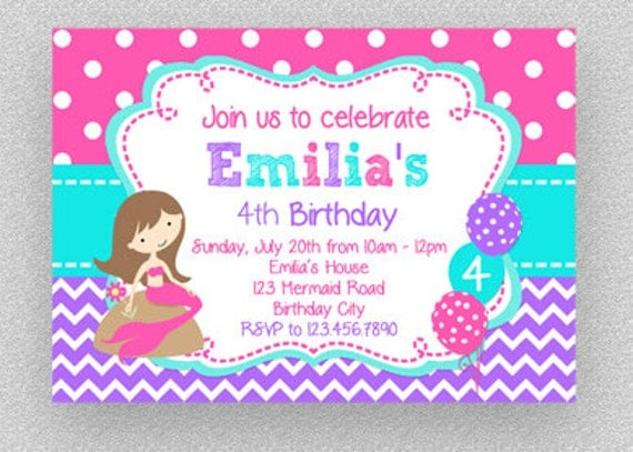Mermaid birthday invitation girls under the sea invitation hot il570xn filmwisefo Gallery