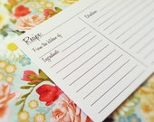 ON SALE Double Sided Simple Recipe Cards - Lined Black and White 4x6 Heavy Duty Recipe Cards