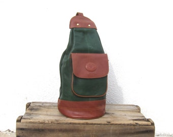 Forest Green Backpack Knapsack Sling Medium Backpack
