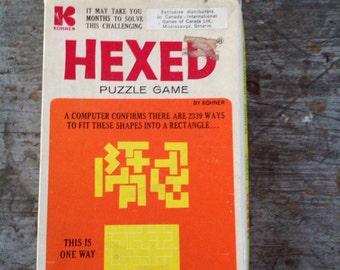 Vintage 1972 Kohner Hexed Puzzle Game