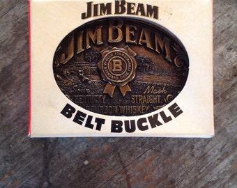 Vintage 1990's Jim Beam Belt Buckle
