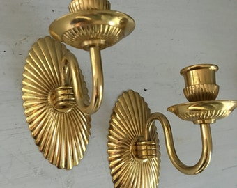 Vintage wall sconce, candle sconce, matching candle sconces