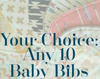 Baby Bib - Wholesale Baby Bib - Baby Bib Set - Bandana Bib - Toddler Drool Bib - Baby Shower Gift - Boy Bandana Bib - Girl Bandana Bib