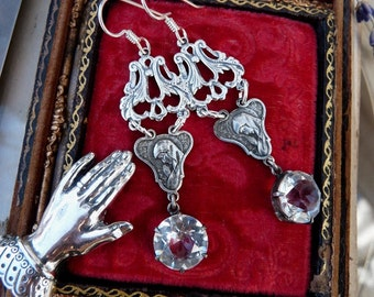 Antique French Virgin Mary Earrings, Talismans for the Passionate, by RusticGypsyCreations