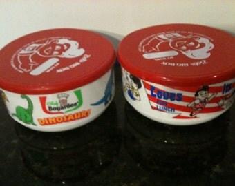 Pair of Plastic Bowls for Bobs Big Boy and Chef Boyardee