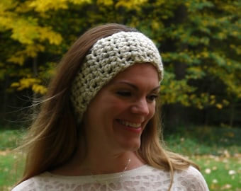 SALE - Crochet Simple Headband / WHEAT