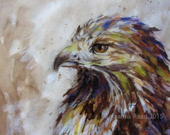 Hawk Energy Embodied - Original Mixed Media Artwork