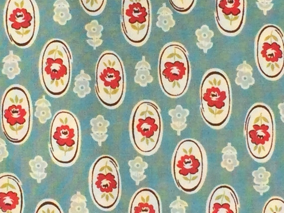 SALE : Urban Chiks Urban Cowgirl Pony Ride turquoise moda fabric FQ or more