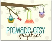 Premade Etsy Shop Banner and Icon Set - Purse Tree