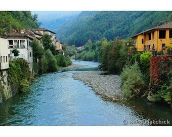 "Fine Art Color Landscape Photography of Tuscany - ""Bagni di Lucca"""