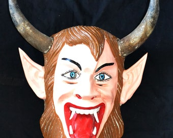 Guerrero (Mexico) Diablo Mask With Horns