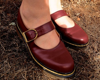 Dr. Martens Burgundy Red Mary Janes UK5 US8