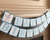 Frozen Olaf Banner, Disney Olaf Banner, Olaf Birthday Banner, Olaf Birthday Party, Disney Banner, Olaf Party,