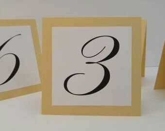 Wedding Table Number Modern and Sophisticated Tent Design for your Wedding Reception Decor Prepared in all of my Shimmery Colors