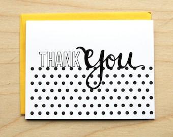 Polka Dot Thank You Card