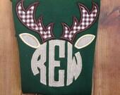Monogrammed Deer Antler Shirt