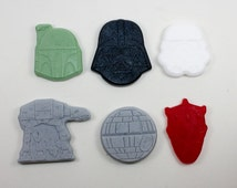 Welcome to the Dark Side, We have Soap!  12 single-use Star Wars Soaps - Darth Vader, Darth Maul, Stormtrooper, AT-AT, Death Star, Boba Fett