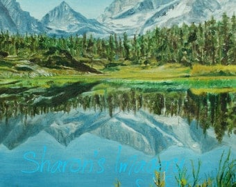 Mountain mirror. No wind. Only the quiet to take in. 11 x 14 of this scene.