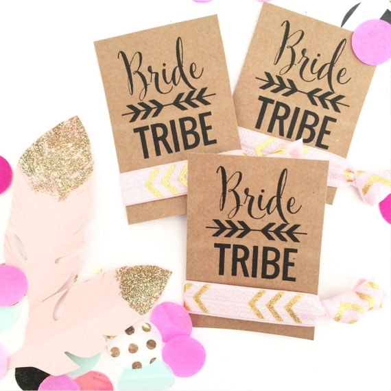 Bride Tribe Party Favor Hair Ties