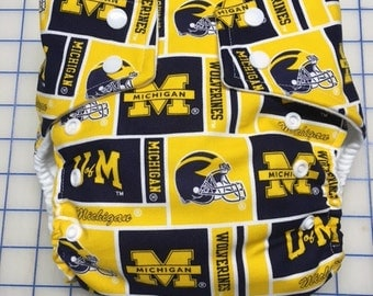 University of Michigan Inspired Cloth Diapers/Diaper Cover